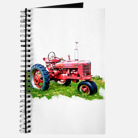 Red Tractor in the Grass Journal