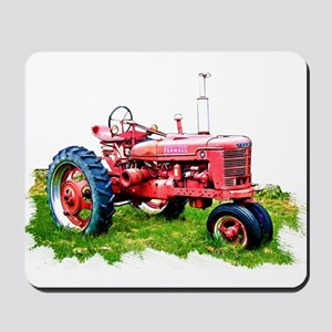 Red Tractor in the Grass Mousepad