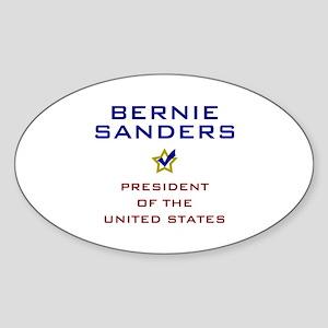 Bernie Sanders President USA V2 Sticker (Oval)