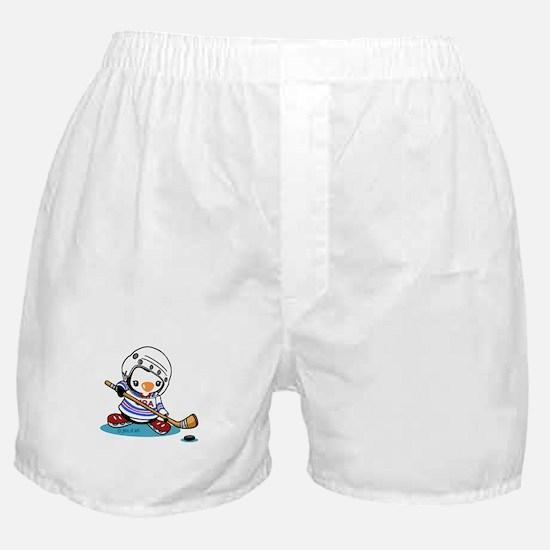 Ice Hockey Penguin Boxer Shorts