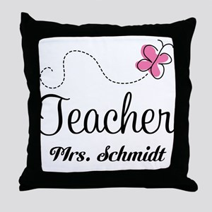 Teacher Cute Personalized Throw Pillow