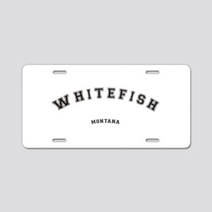 Whitefish Montana Aluminum License Plate
