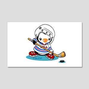 Ice Hockey Penguin 20x12 Wall Decal