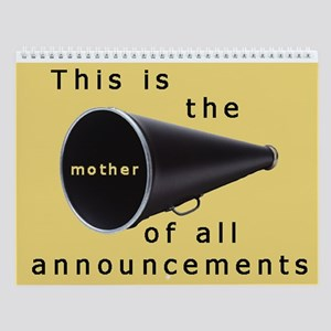 Pregnancy announcement Wall Calendar