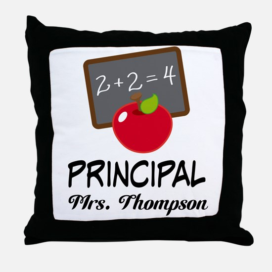 School Principal Personalized Throw Pillow