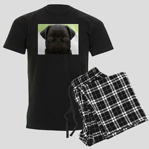 Black Pug Men's Dark Pajamas