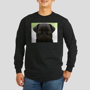 Black Pug Long Sleeve T-Shirt