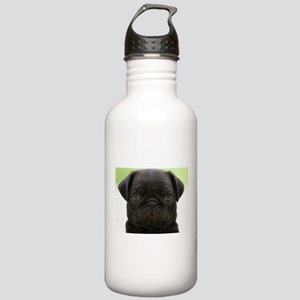 Black Pug Stainless Water Bottle 1.0L