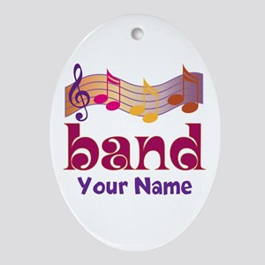 Personalized Marching Band Ornament (Oval)