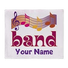 Personalized Marching Band Throw Blanket