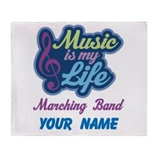 Marching Band Quote music Throw Blanket