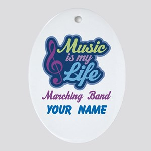 Marching Band Quote music Ornament (Oval)
