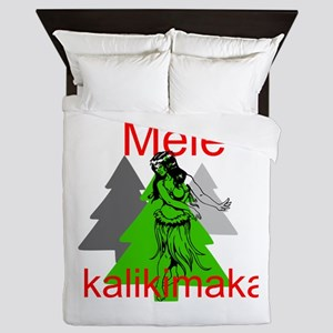 Mele Kalikimaka (Merry Christmas) Queen Duvet