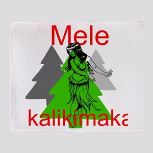Mele Kalikimaka (Merry Christmas) Throw Blanket