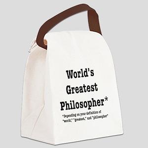 World's Greatest Philosopher Canvas Lunch Bag