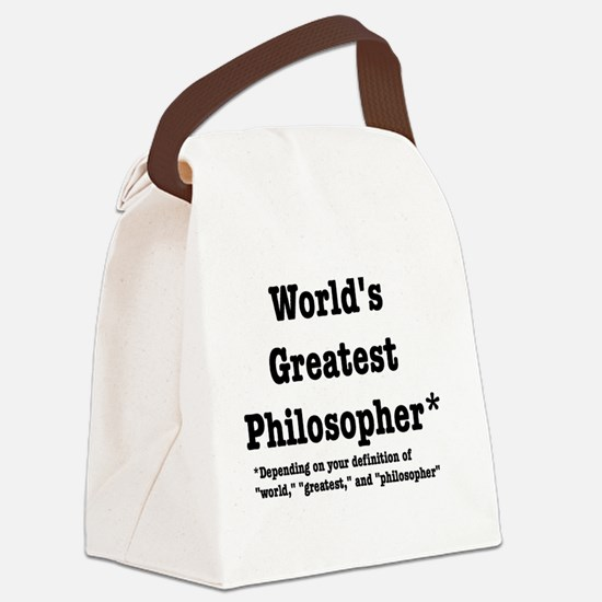 World's Greatest Philosopher Canvas Lunch Bag