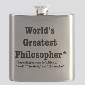 World's Greatest Philosopher Flask