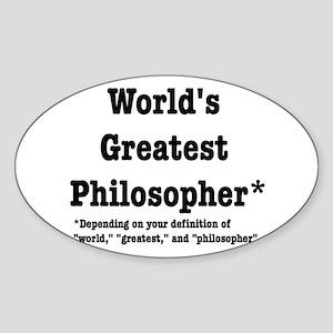 World's Greatest Philosopher Sticker