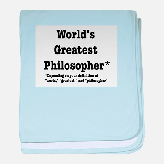 World's Greatest Philosopher baby blanket