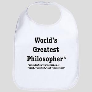 World's Greatest Philosopher Bib