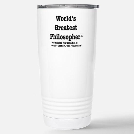 World's Greatest Philos Stainless Steel Travel Mug