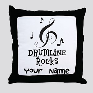 Drumline Rocks personalized Throw Pillow