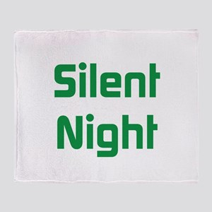 Silent Night Throw Blanket