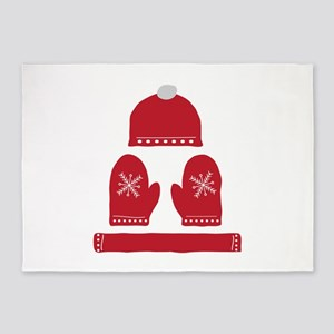 Winter Clothes 5'x7'Area Rug