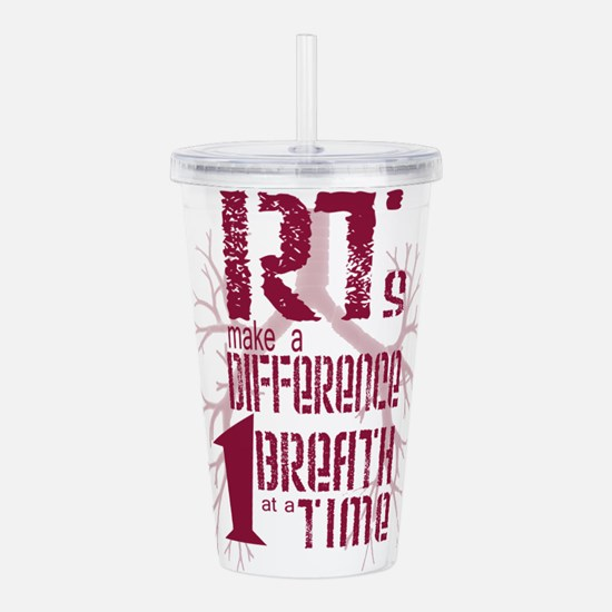 RT-Difference-burgundy Acrylic Double-wall Tumbler