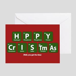 Periodic Happy Christmas Greeting Card