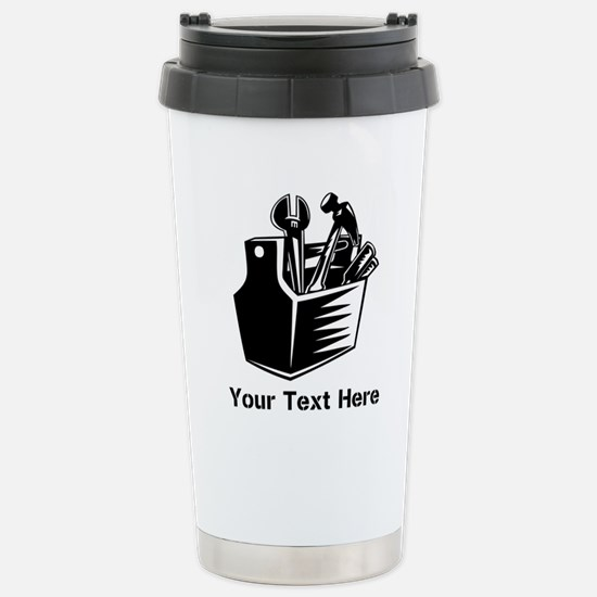 Tools with Text in Black. Mugs