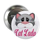Cat Lady Gray Cat 2.25