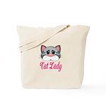 Cat Lady Gray Cat Tote Bag