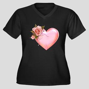 Romantic Hearts Plus Size T-Shirt