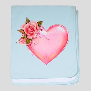 Romantic Hearts baby blanket