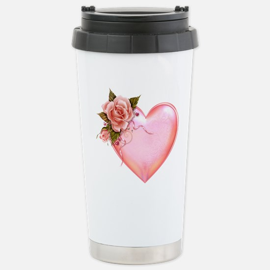 Romantic Hearts Stainless Steel Travel Mug