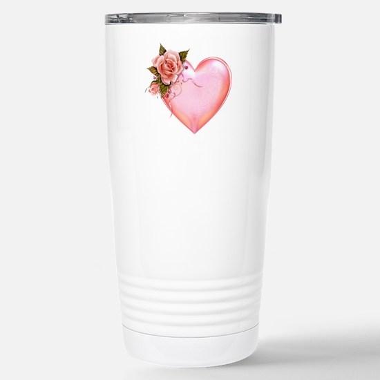 Romantic Hearts Stainless Steel Travel Mug