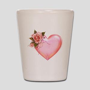 Romantic Hearts Shot Glass
