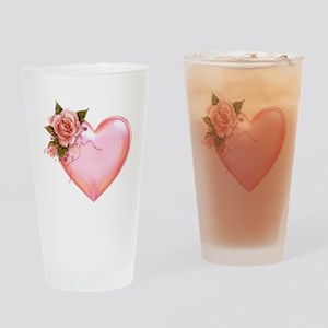Romantic Hearts Drinking Glass