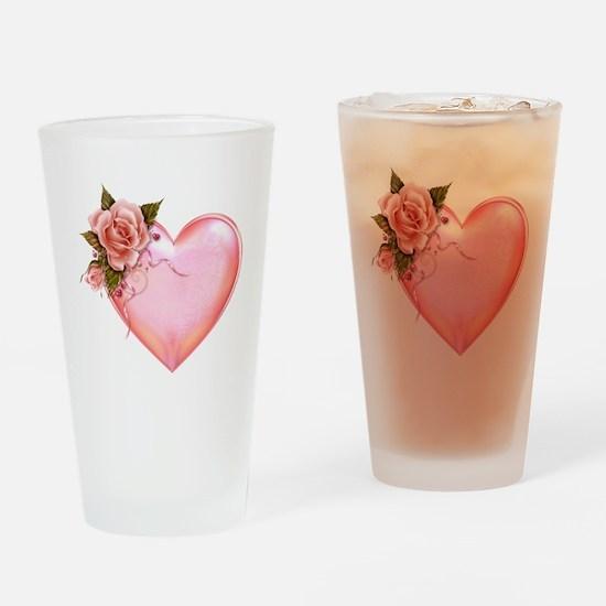 Romantic Hearts Drinking Glass