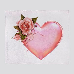 Romantic Hearts Throw Blanket