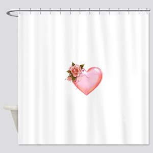 Romantic Hearts Shower Curtain
