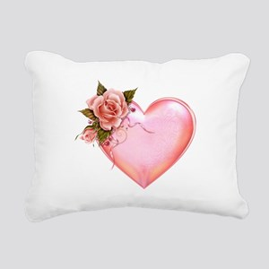 Romantic Hearts Rectangular Canvas Pillow