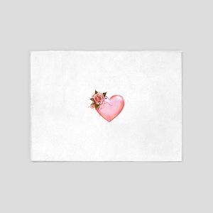 Romantic Hearts 5'x7'Area Rug