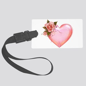 Romantic Hearts Large Luggage Tag