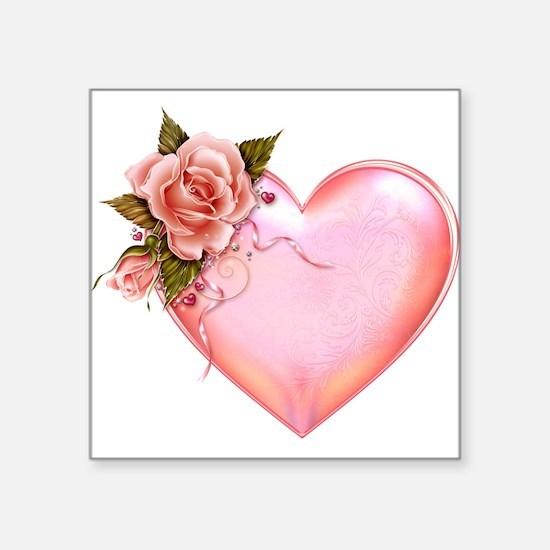 Romantic Hearts Sticker