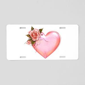 Romantic Hearts Aluminum License Plate