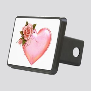 Romantic Hearts Rectangular Hitch Cover