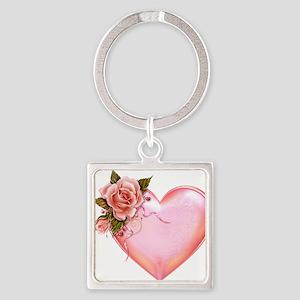 Romantic Hearts Keychains