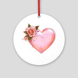 Romantic Hearts Ornament (Round)